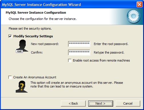 Установка пароля для пользователя root