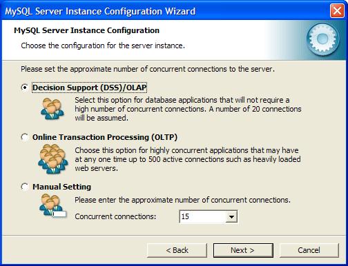 Диалоговое окно задания максимального количества подключений